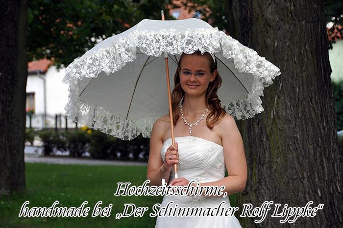 """Hochzeitsschirme, handmade by """"Der Schirmmacher Rolf Lippke"""""""